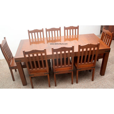 teak wood wooden dining table designs with glass top in india
