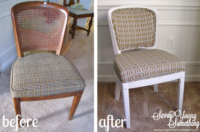 reupholster cane back dining chair