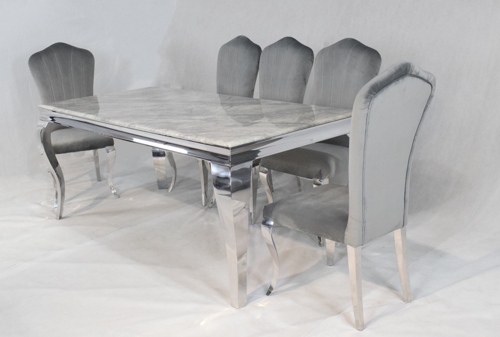 louis dining table and chairs