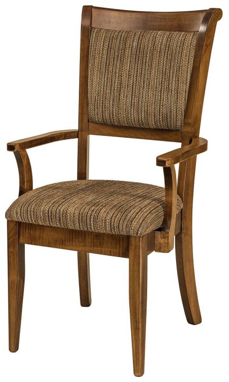 wooden dining chairs with armrests