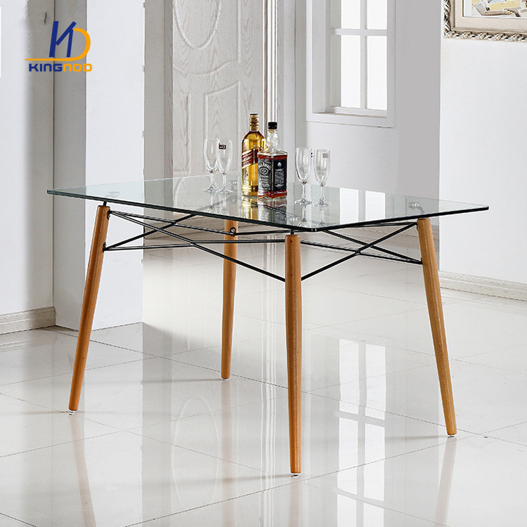 glass and iron dining table