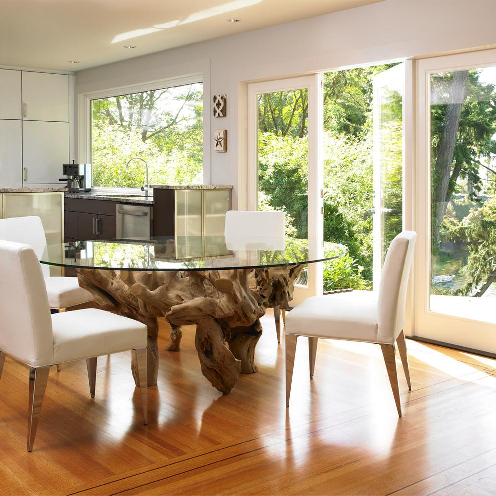 driftwood glass top dining table uk