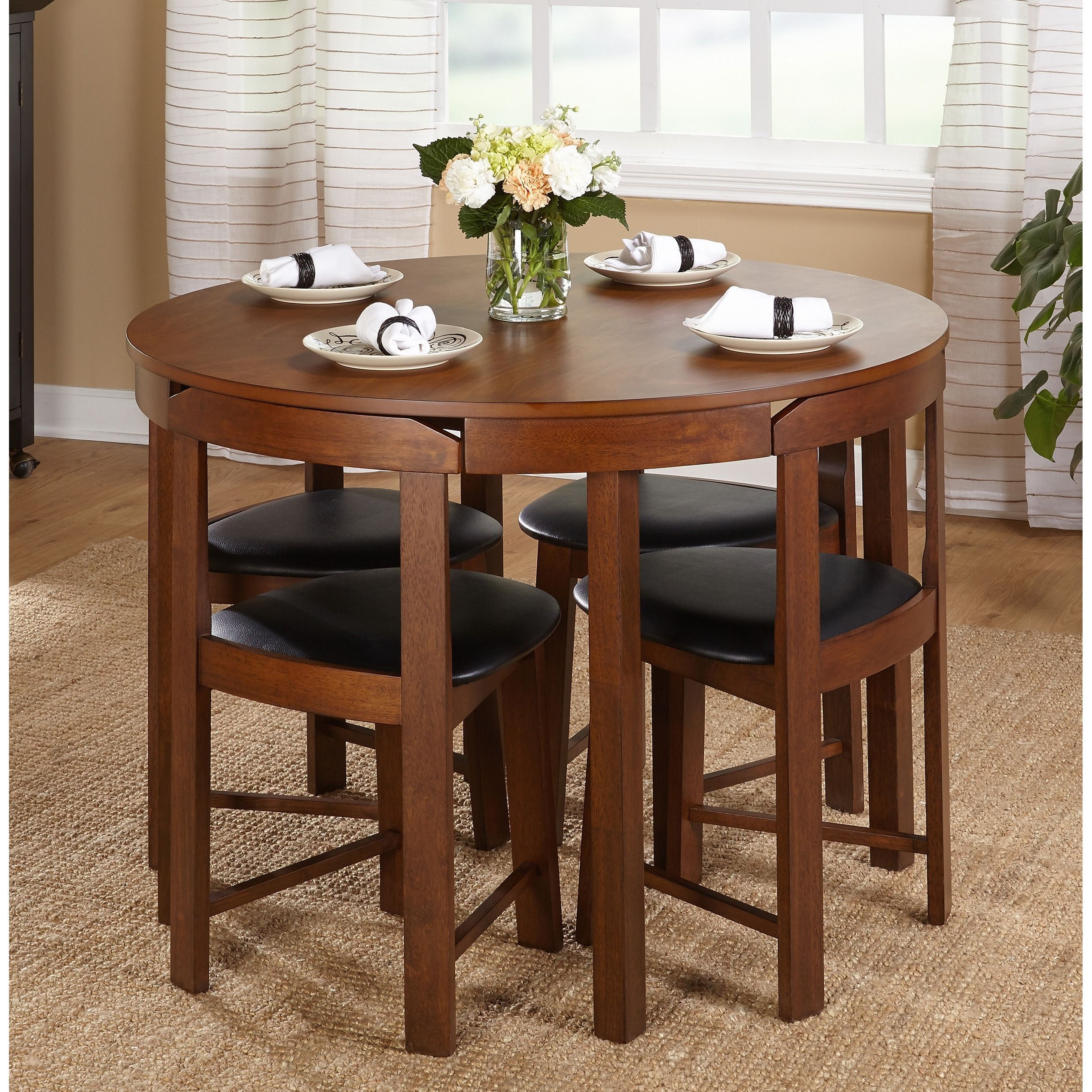 round dining table 5 chairs