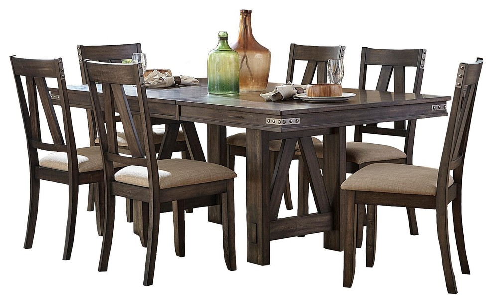 rustic industrial dining chairs