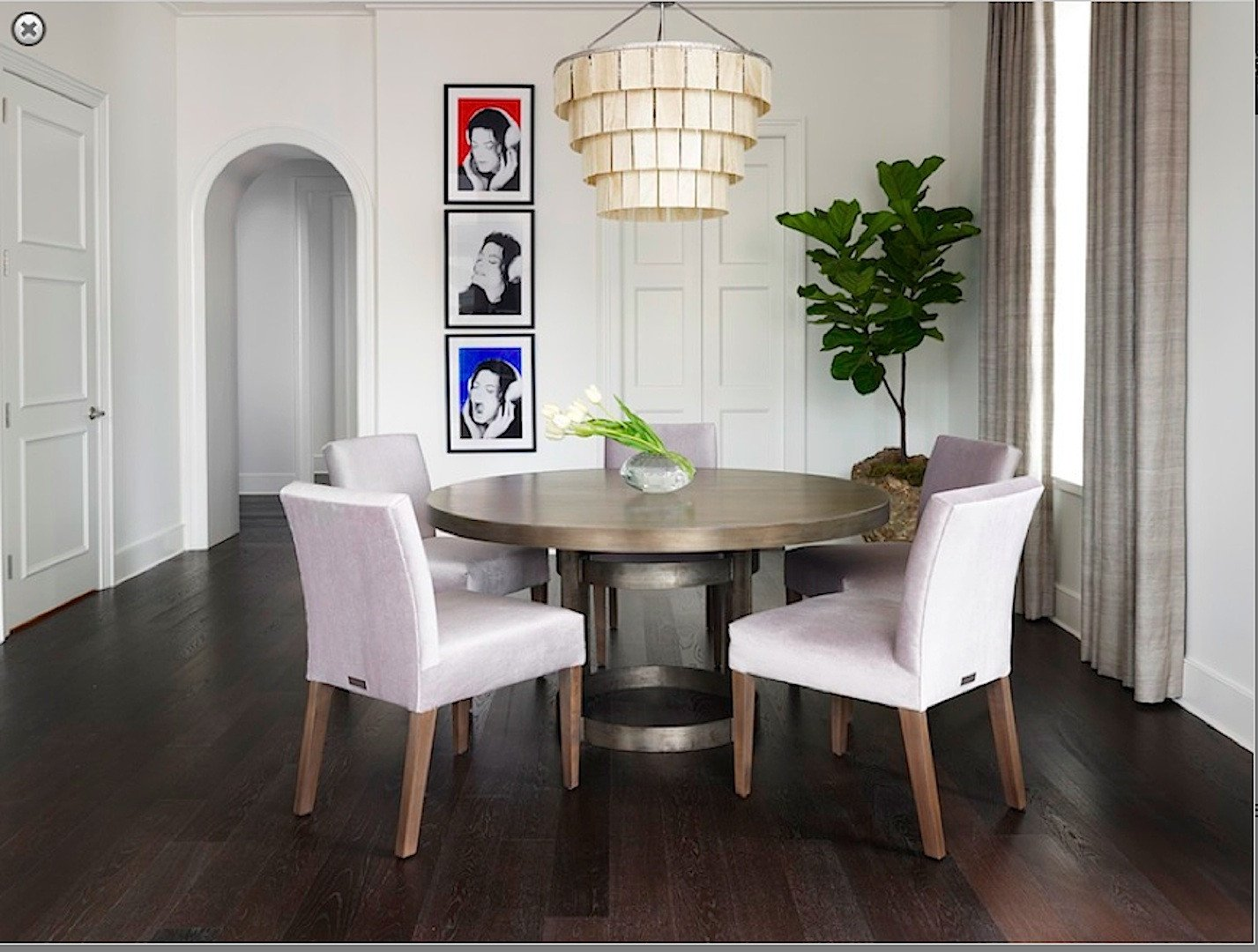 dining table upholstered chairs