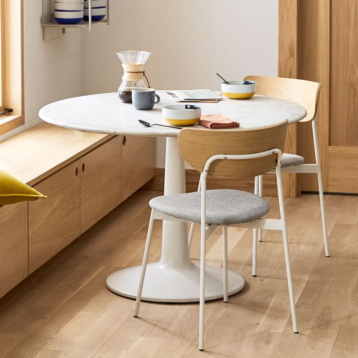 contemporary modern round dining table for 6