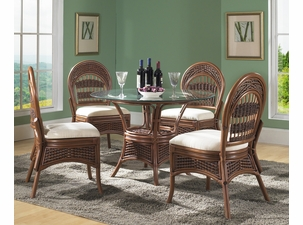 wicker dining table chairs
