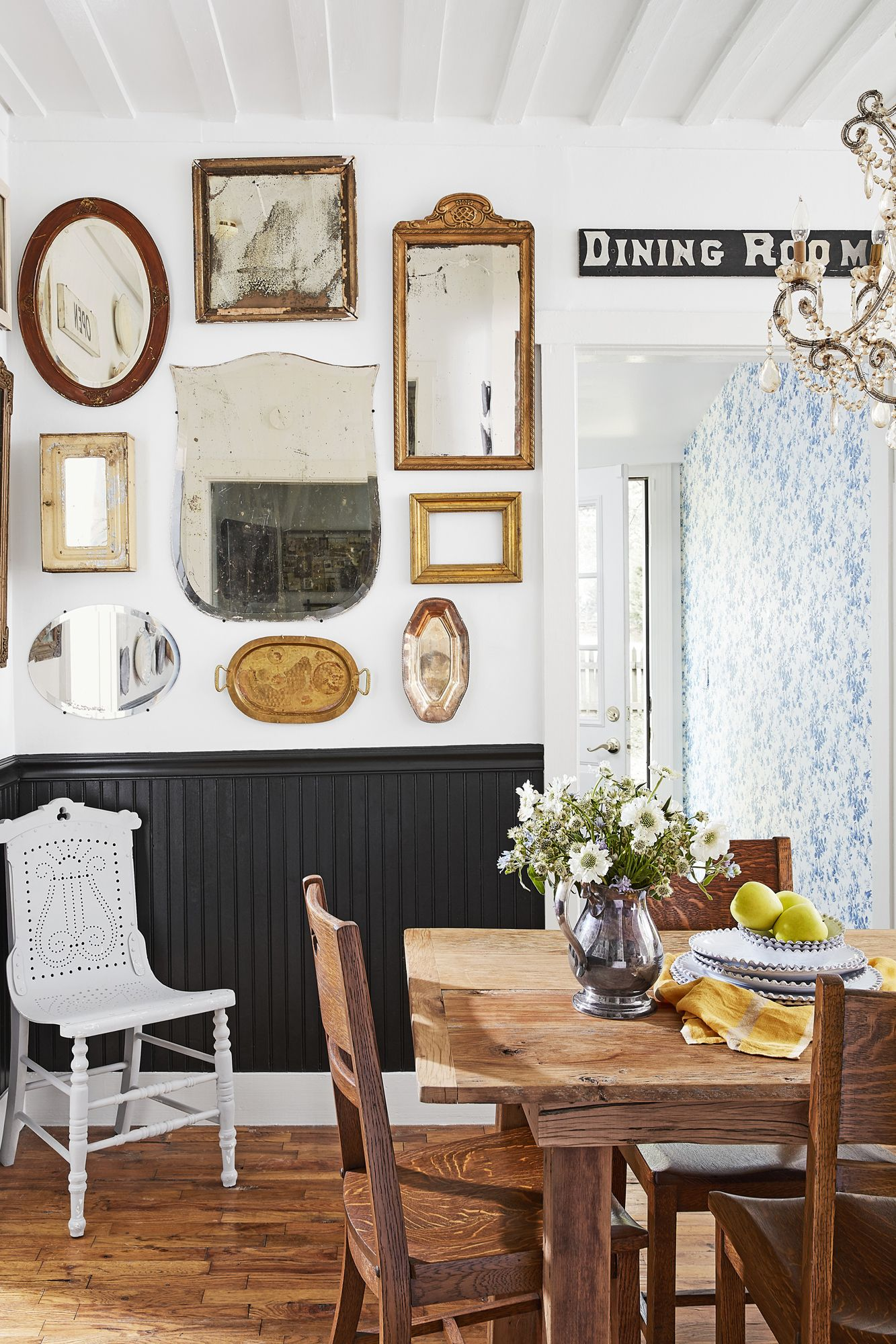 dining room chair rail wainscoting