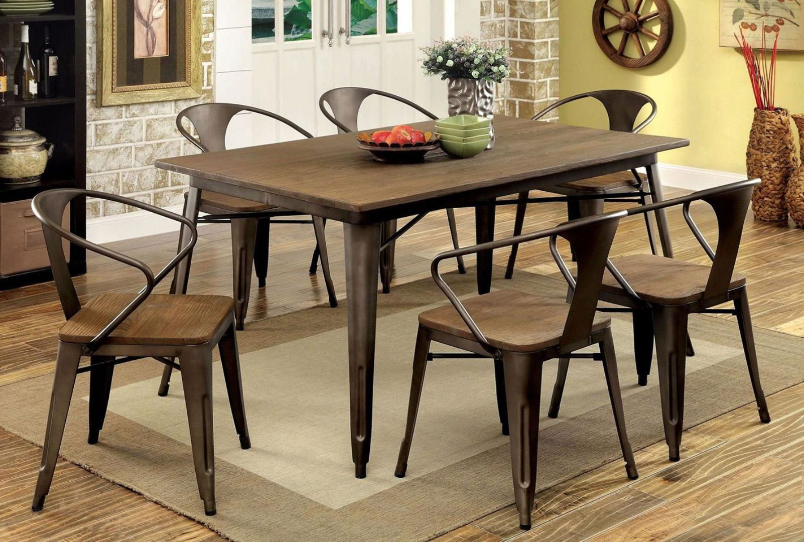 industrial style dining table set