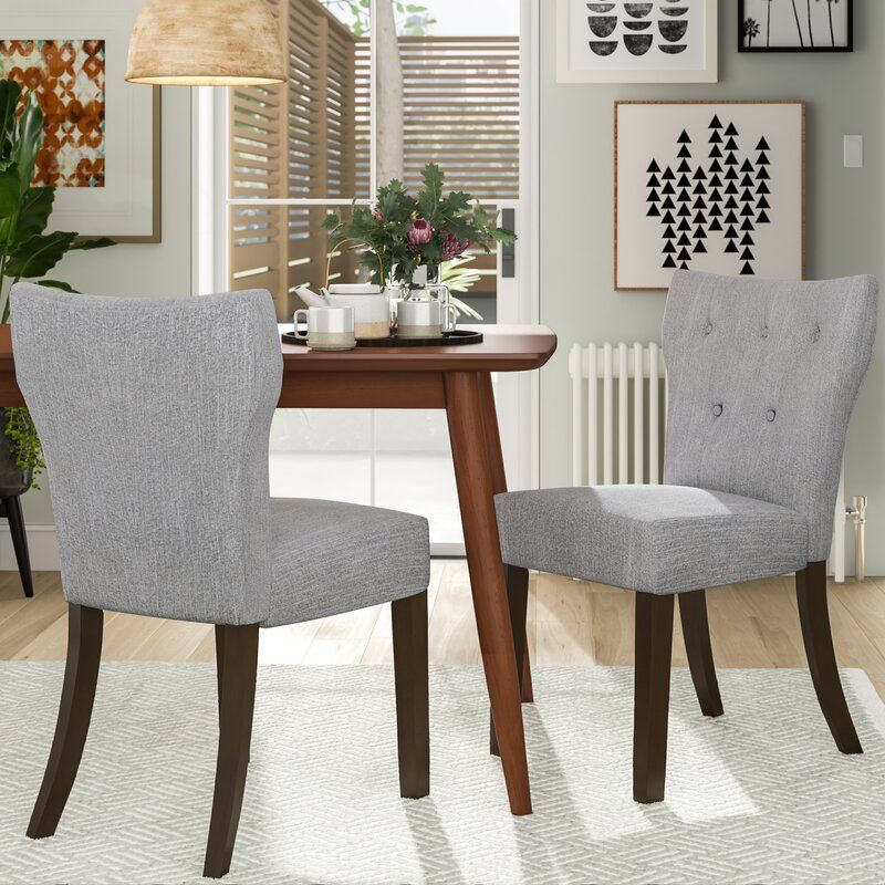 upholstered tufted dining chairs