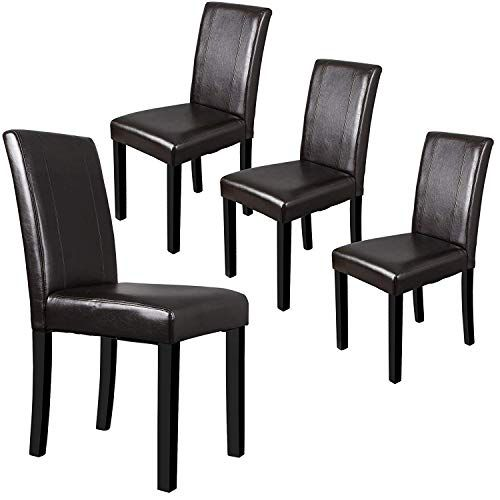 4 leather dining chairs