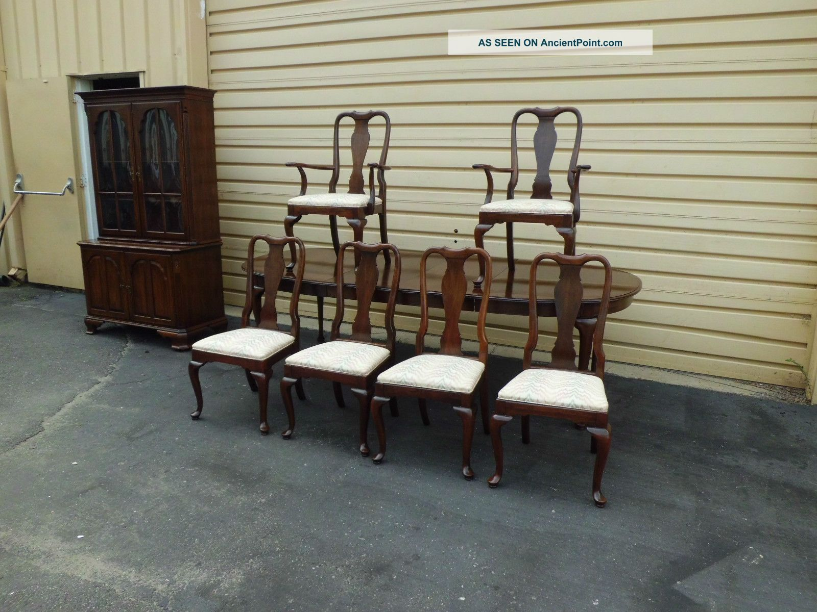 ethan allen dining table and chairs used