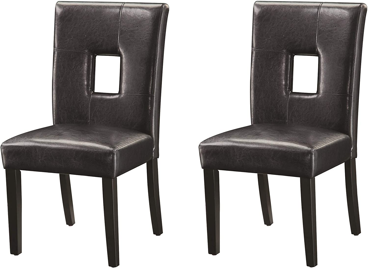 black wood upholstered dining chairs