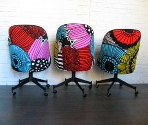 patterned office chair