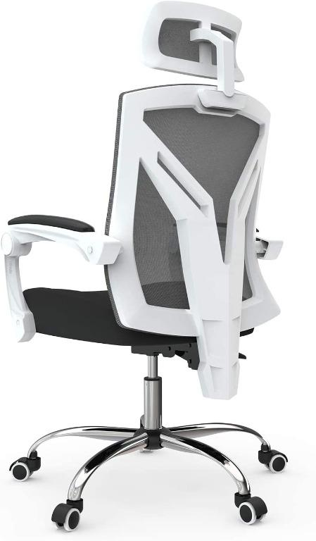 mesh back office chair with lumbar support