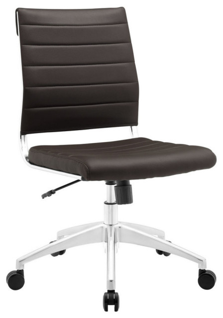 modway ripple mid back office chair white