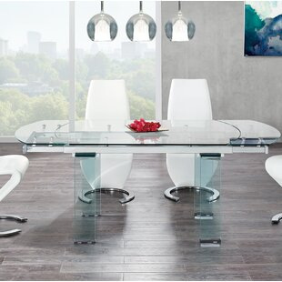 cracked glass dining table set