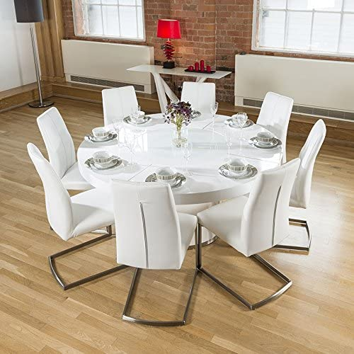 glass dining table 8 chairs