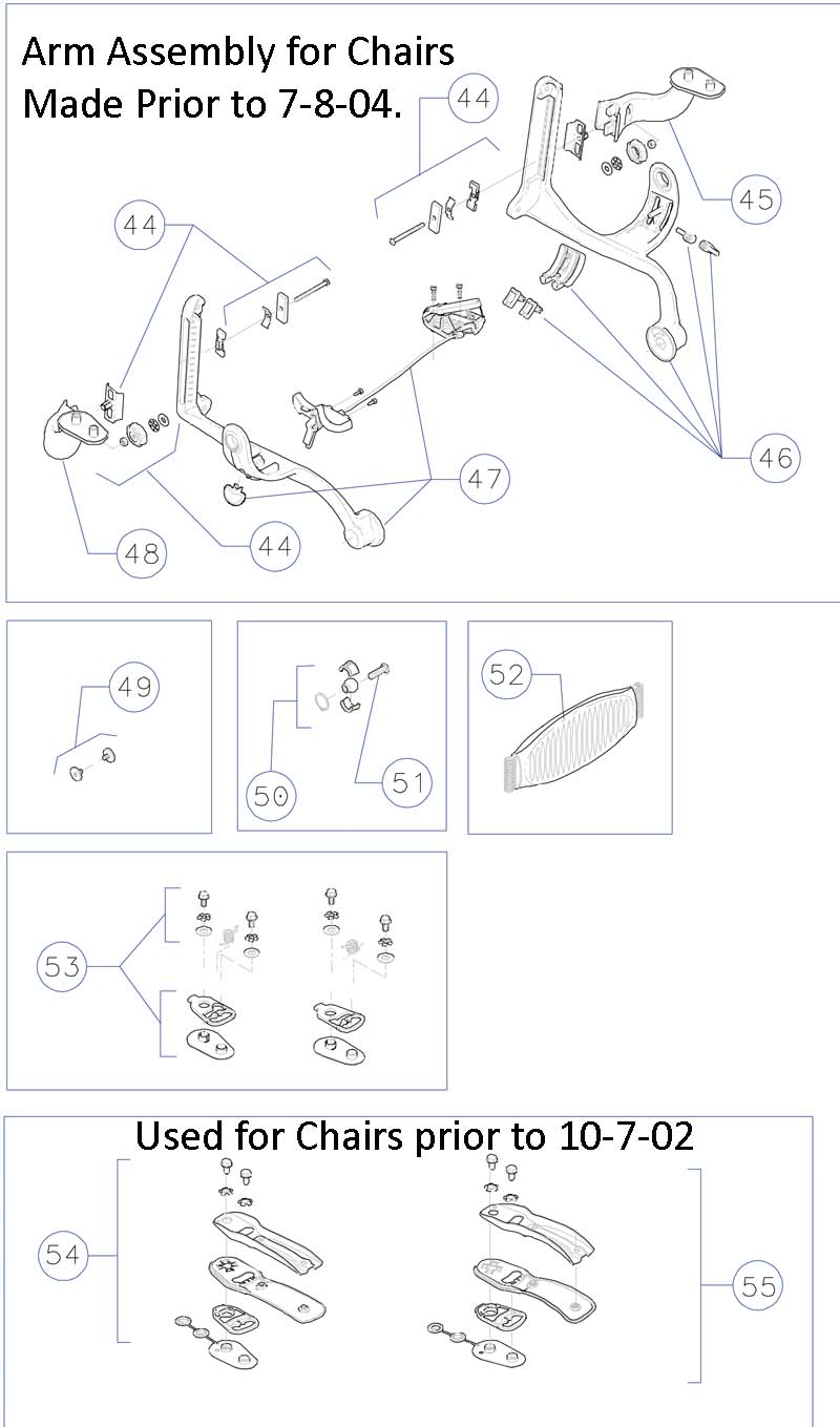 office chair parts diagram