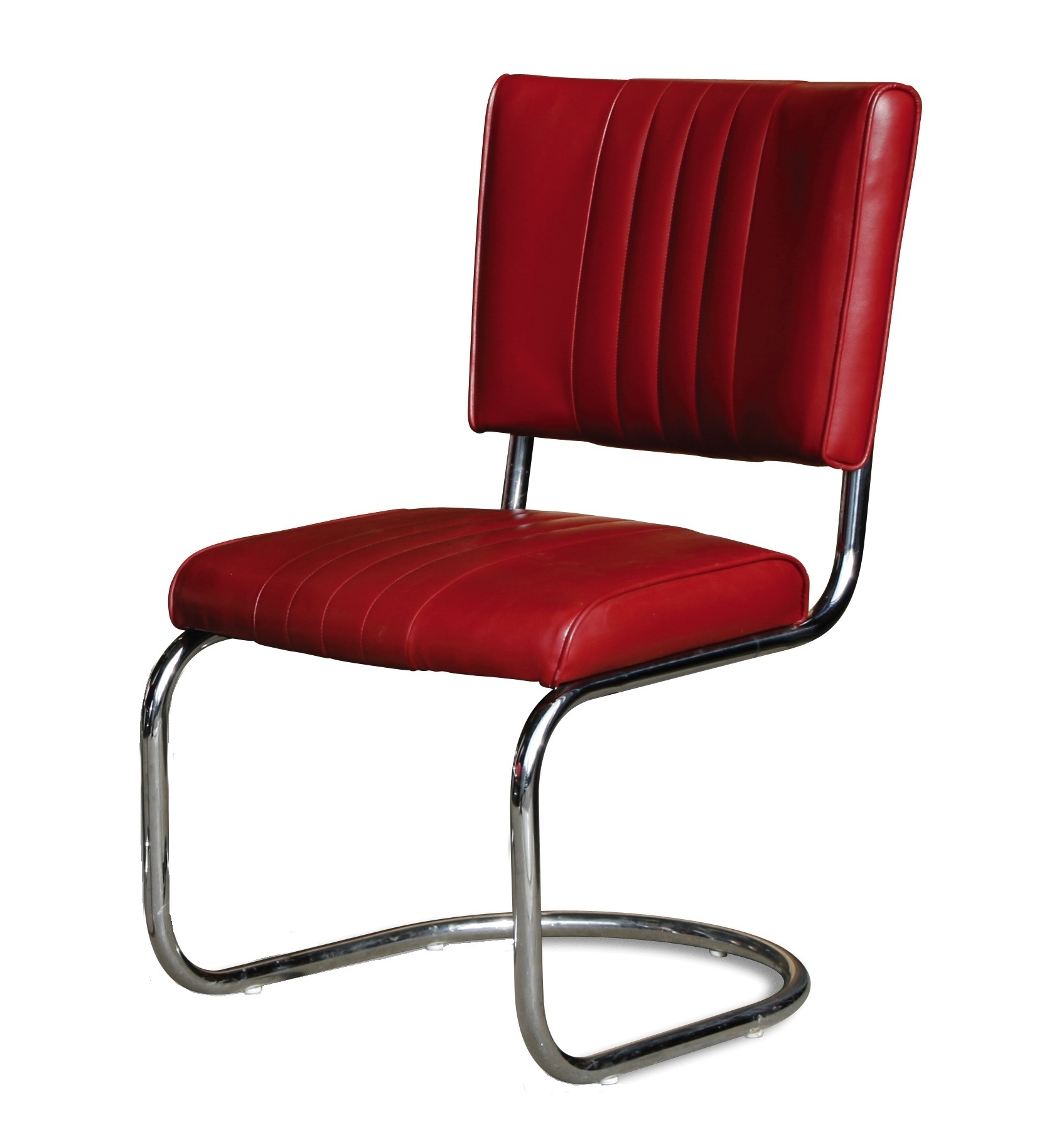 red retro dining chairs