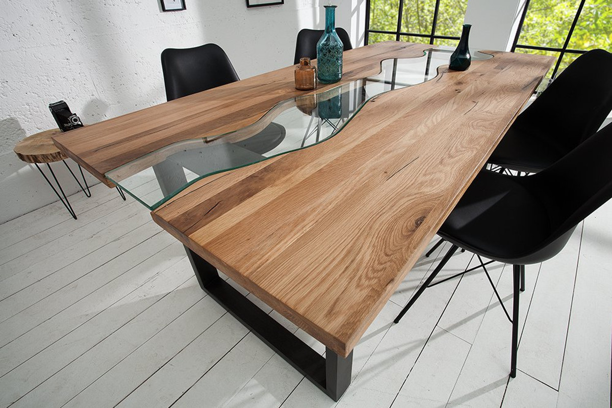 natural oak dining table and chairs