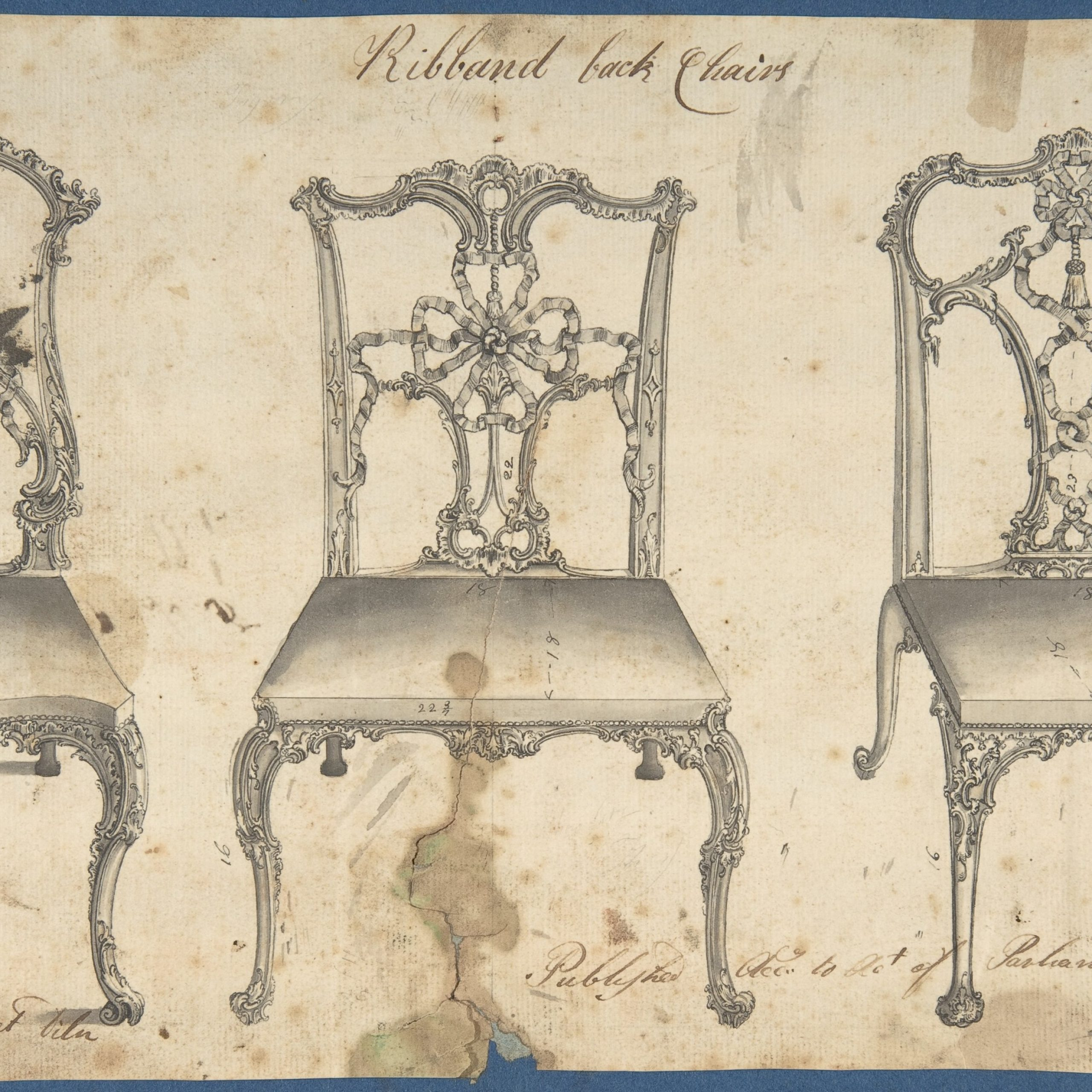 chippendale ribbon back dining chairs