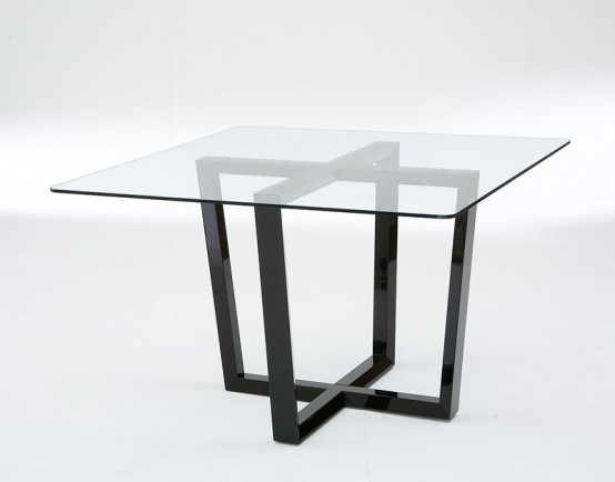 glass top dining room table bases
