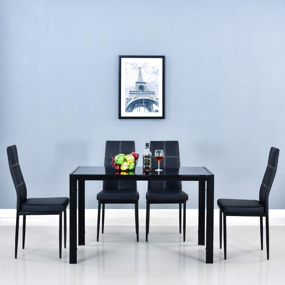 glass table top dining table
