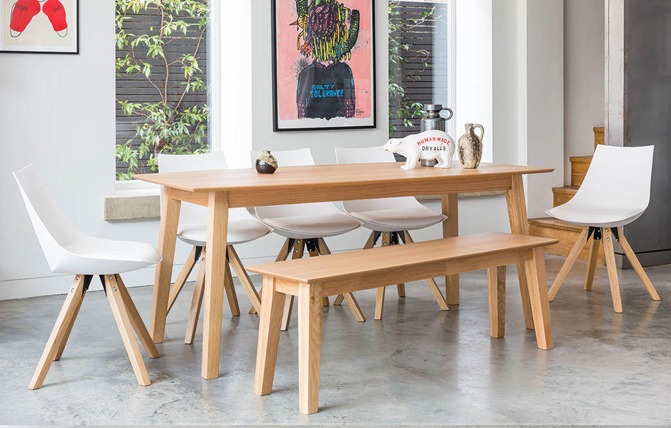 dining bench and chairs