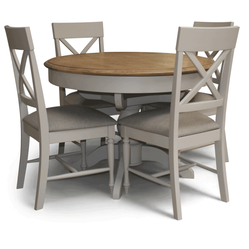 Charlotte Round Dining Table Set