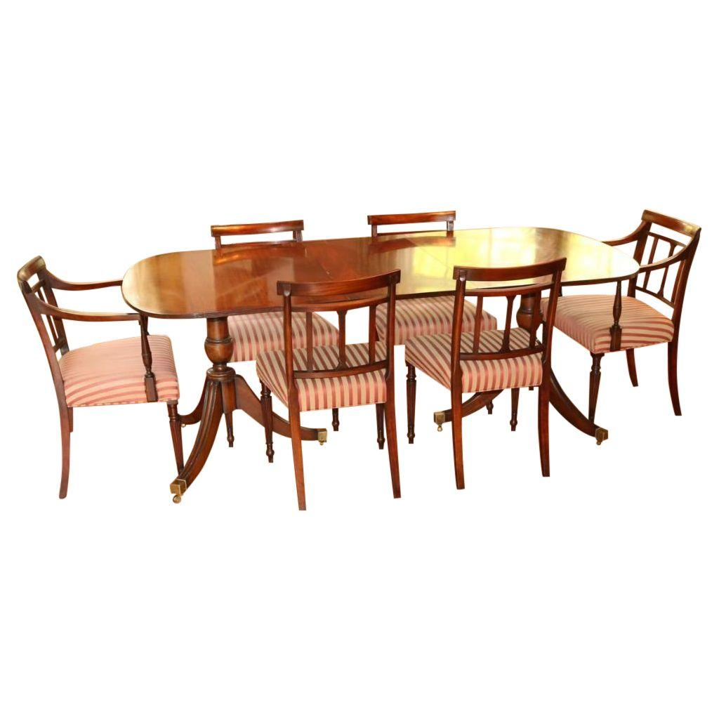 regency style dining table and chairs