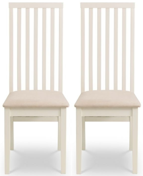 ivory wood dining chairs