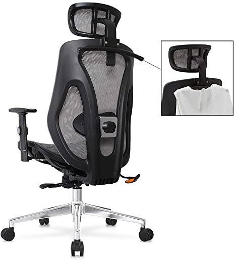 adjustable lumbar support office chair