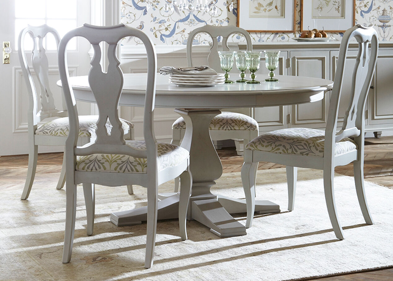 ethan allen dining table and chairs