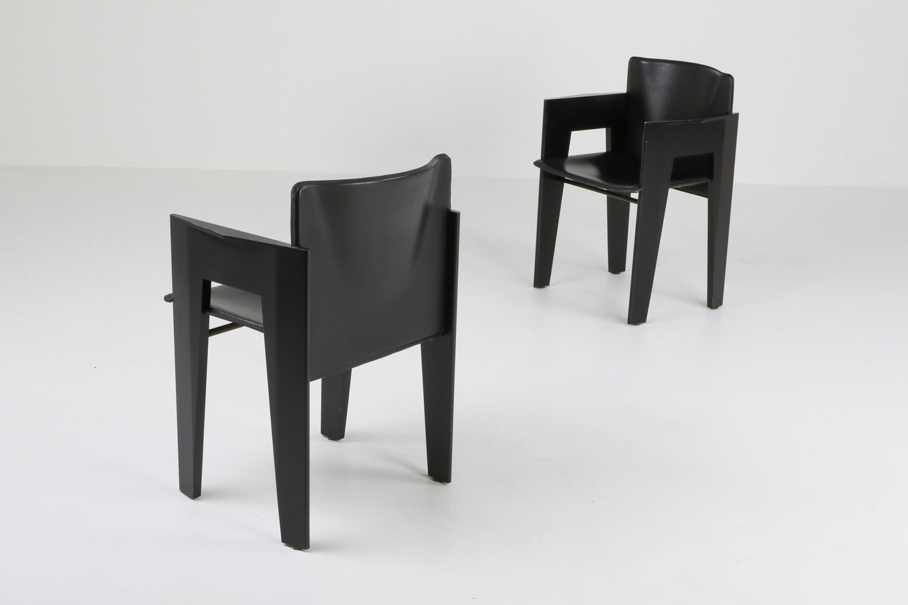 black and oak dining chairs