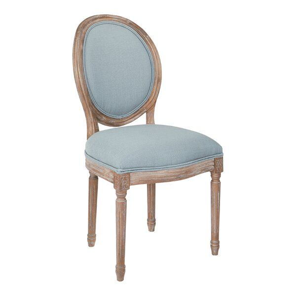 oval back upholstered dining chair