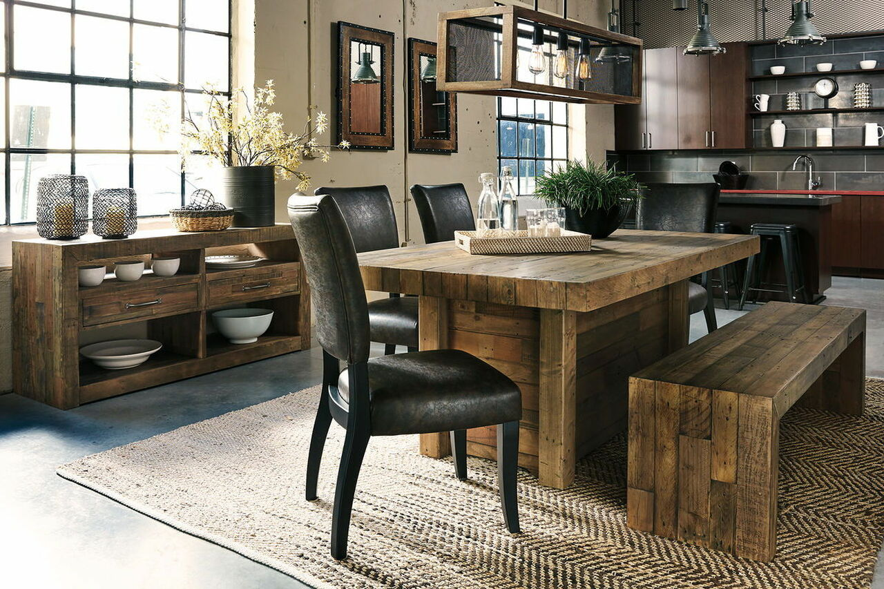 dining room tables and benches