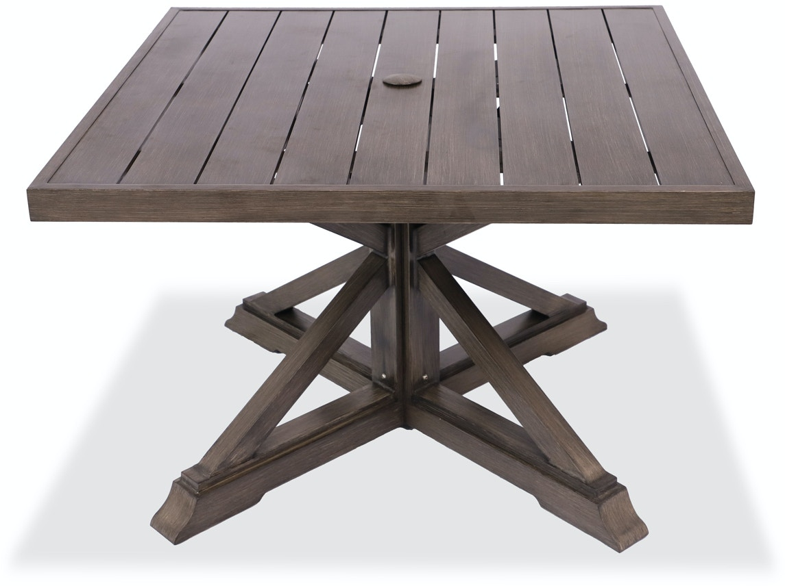 aluminum top dining table