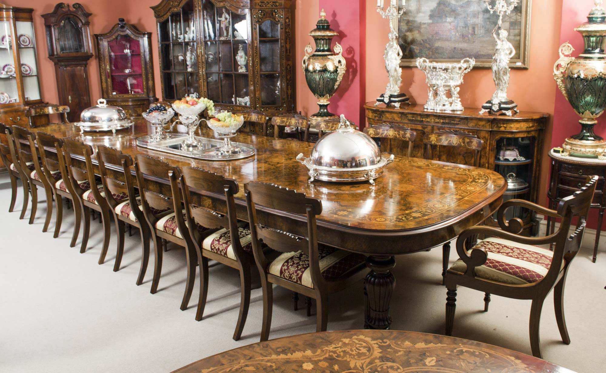 round antique dining tables