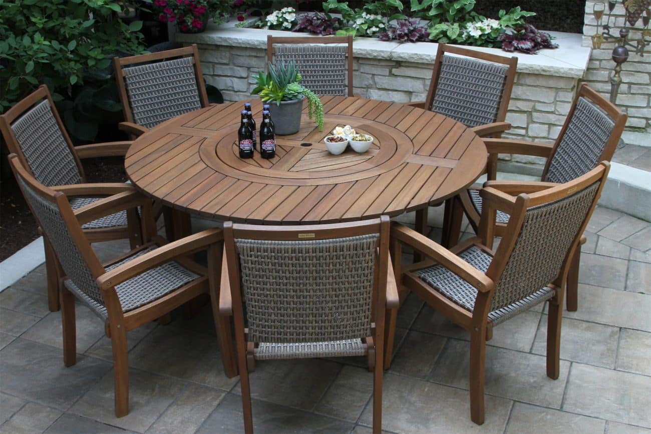 round dining room table with lazy susan