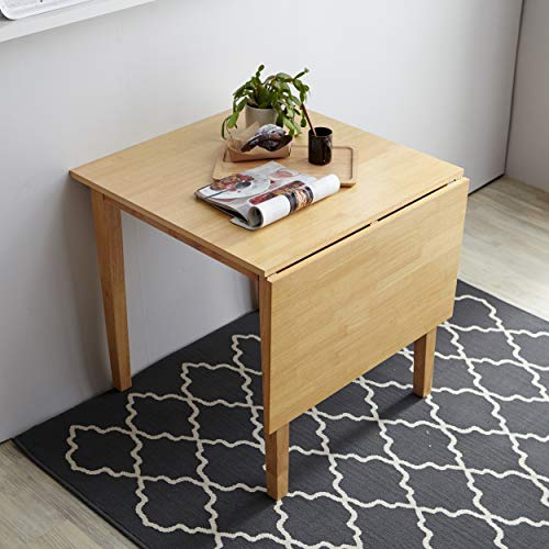 drop leaf extendable dining table