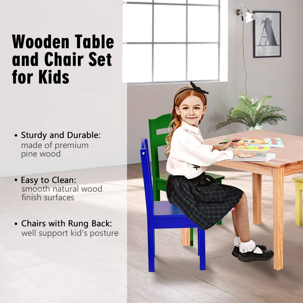 kids dining table and chair set