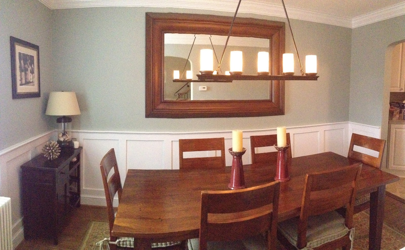 dining room paint with chair rail
