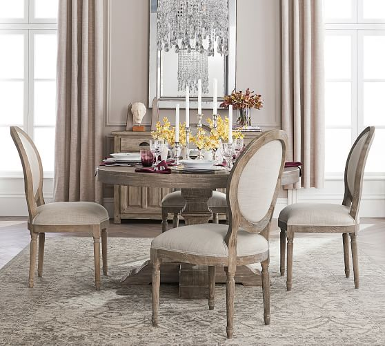 pottery barn black dining table
