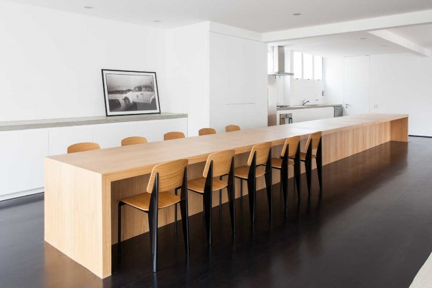 kitchen island with dining table