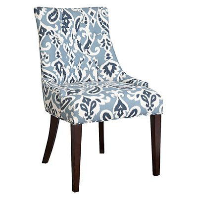 blue paisley dining chair