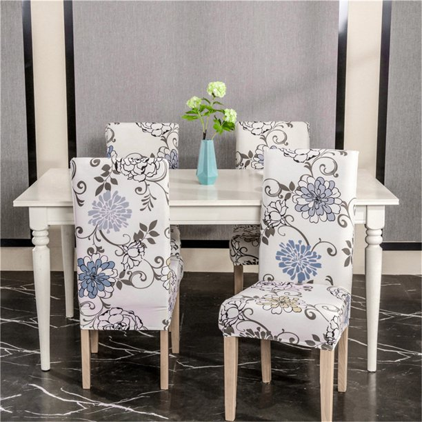 1pc Dining Room Chair Covers Slipcovers Spandex Fabric Fit Stretch Removable Washable Kitchen Chair Covers Protector For Dining Room Hotel Ceremony Flower Walmart Com Walmart Com