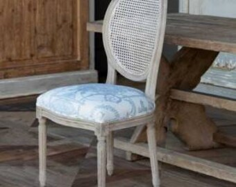 french provincial cane back dining chairs