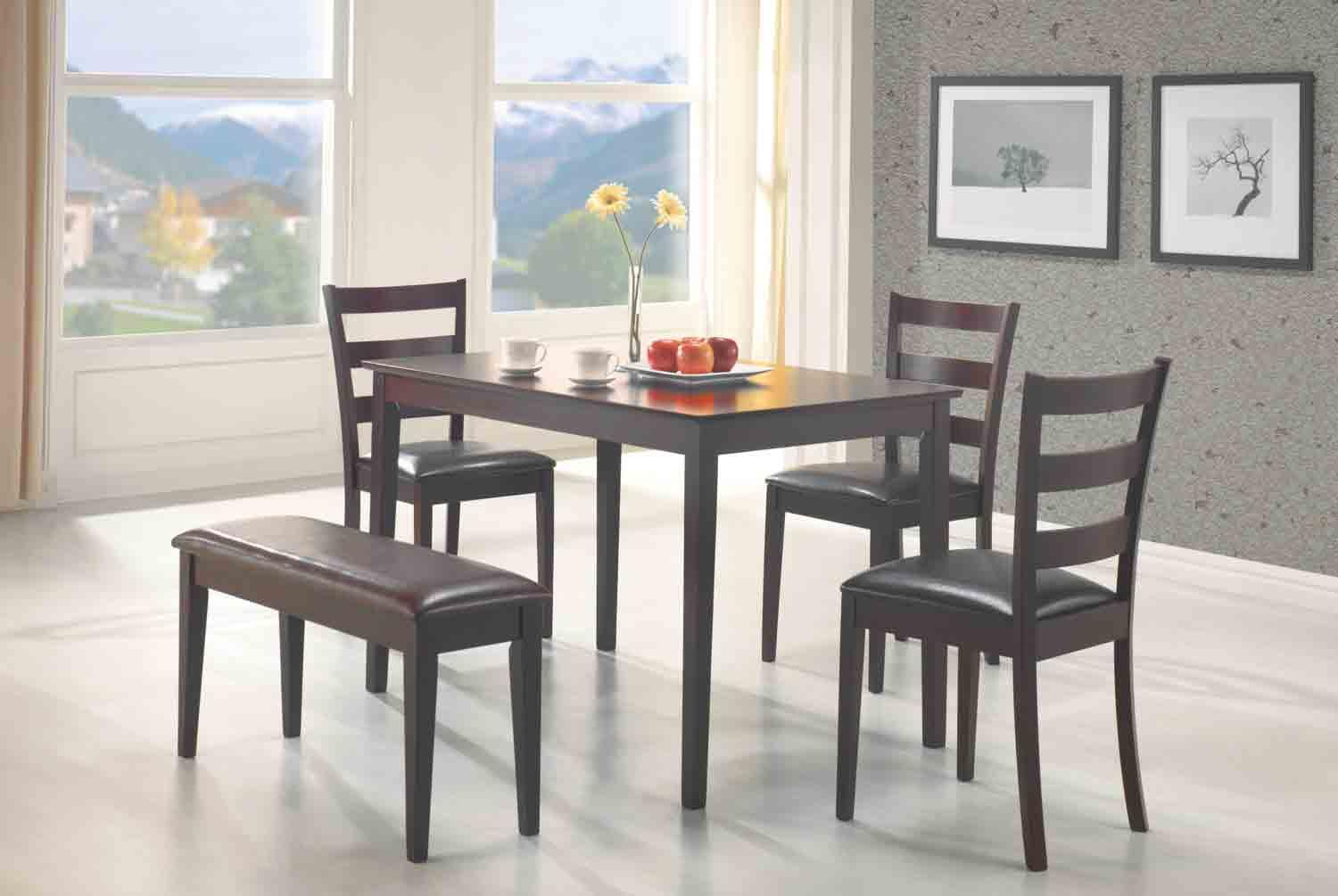 small dining room table with bench