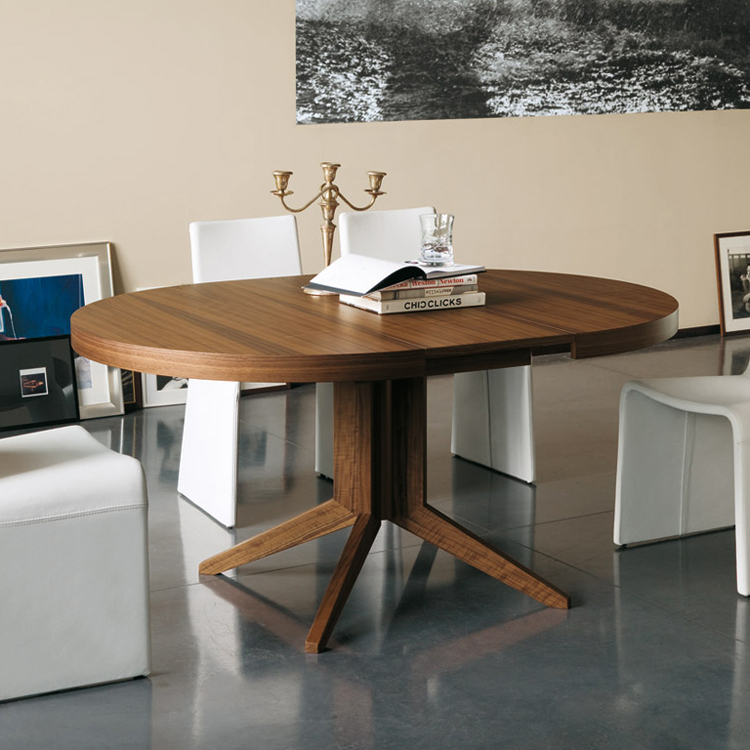 round extension dining table modern